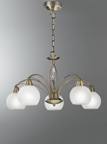 Franklite FL2278/5 Bronze Pendant Light (Class 2 Double Insulated)